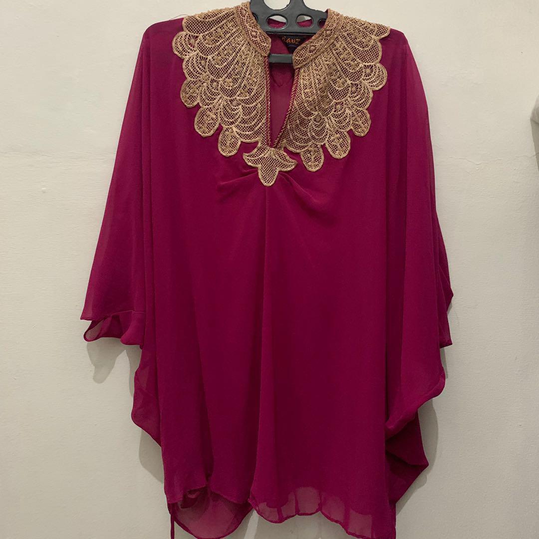 Kaftan Fuchsia baju blouse kondangan