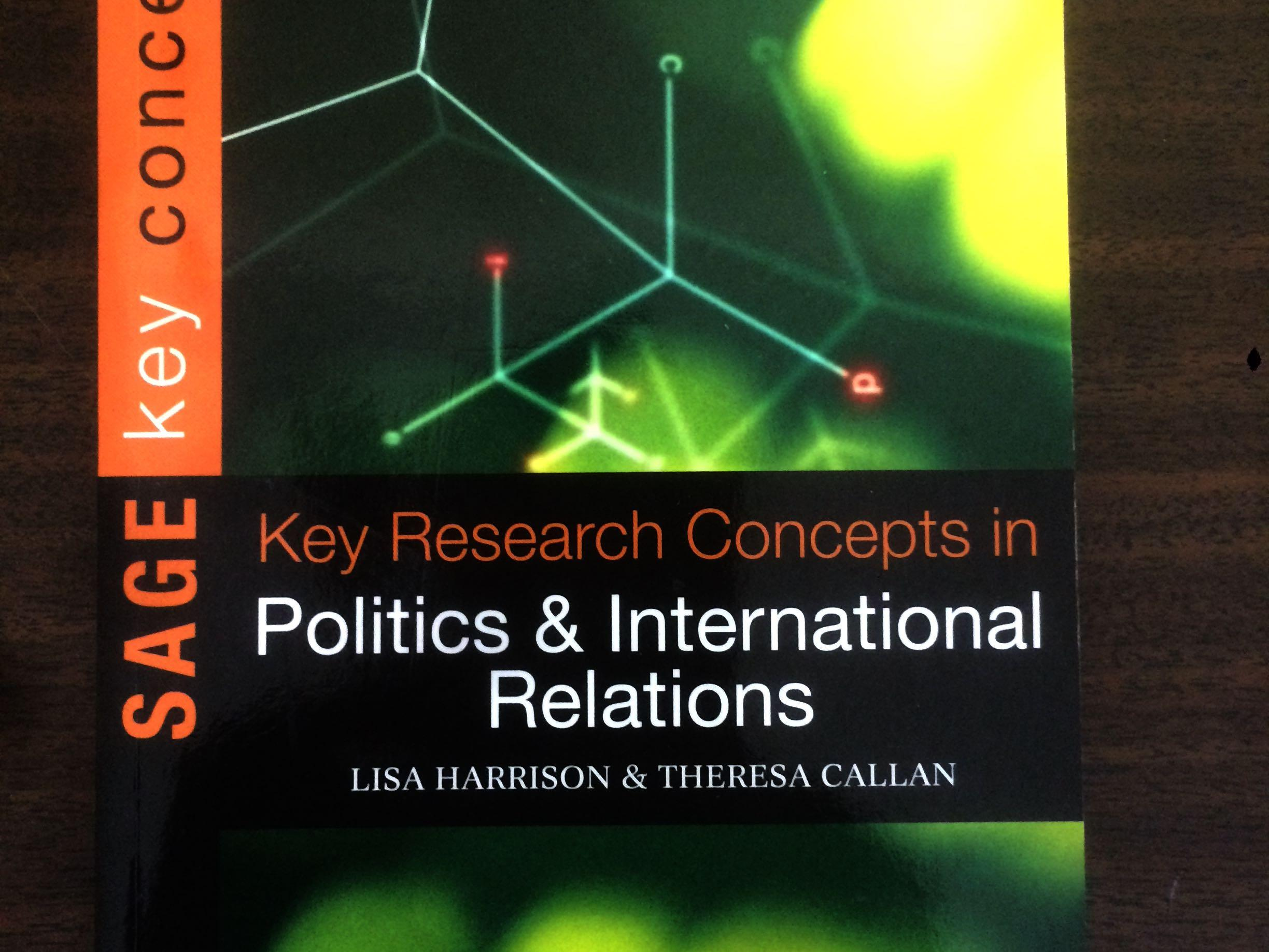 Key Concepts in Politics and international Relations