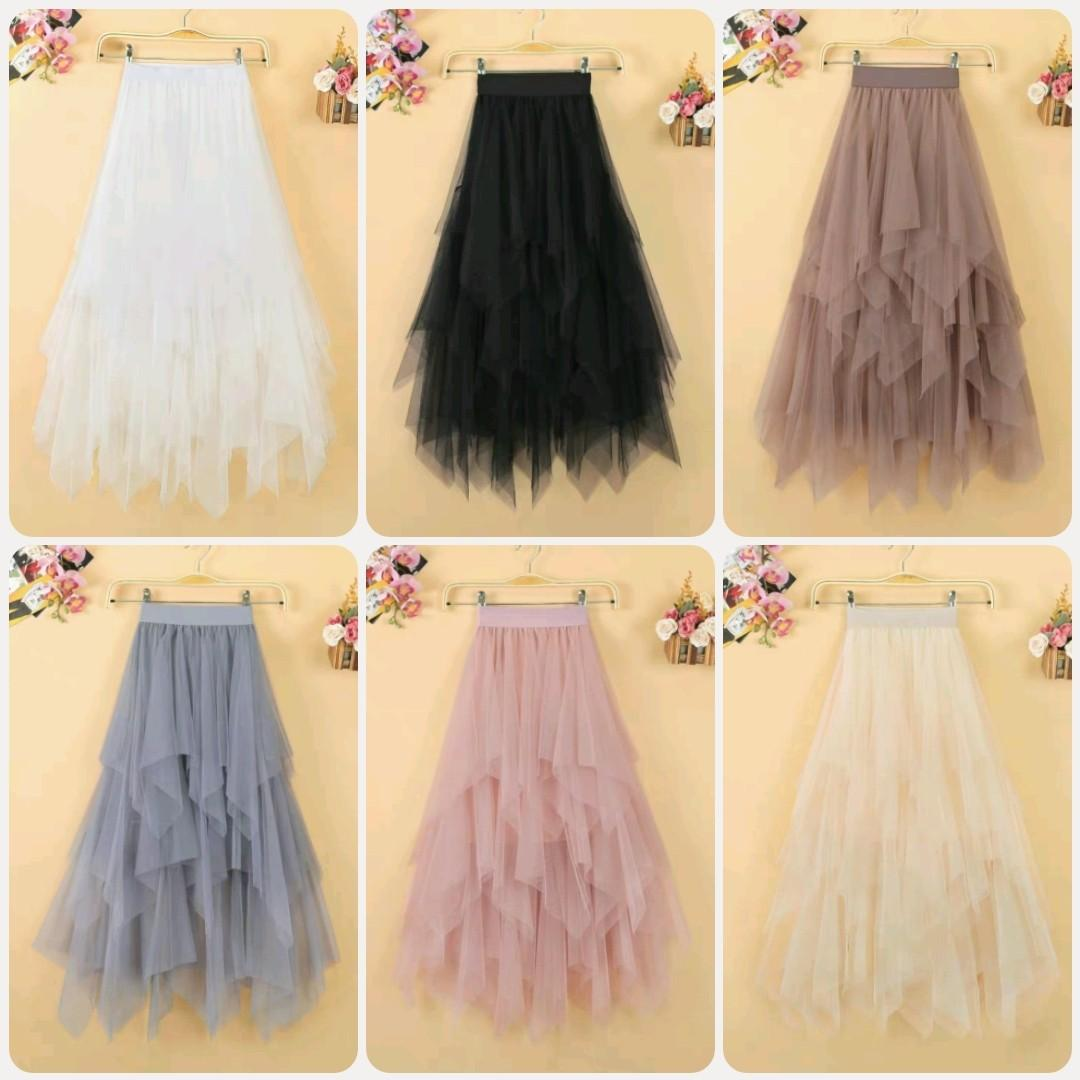 Korean Sophisticated High Fashion Lady Casual Skirt