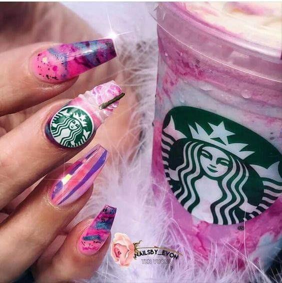 Latest Edition Starbucks venti cold cup rainbow straw