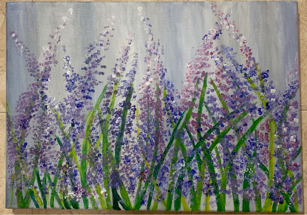 Lavender Acrylic Painting Design Craft Art Prints On Carousell