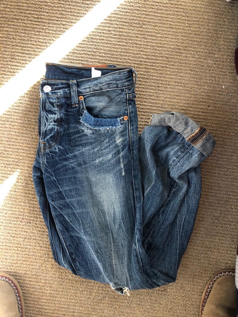 Levi's unique 501 jeans