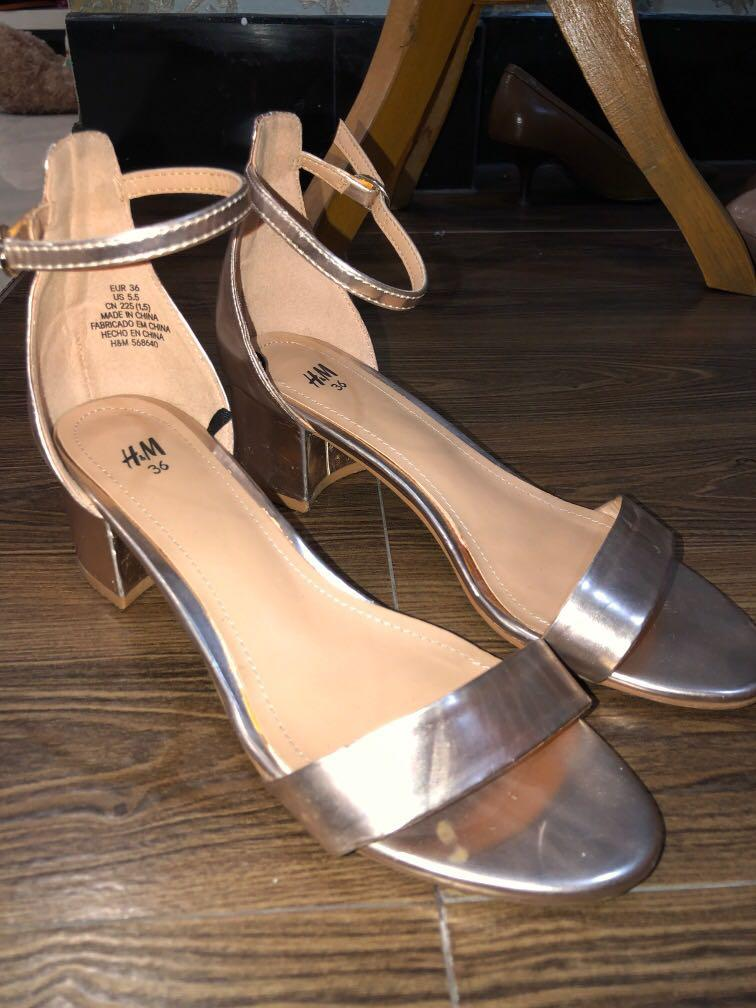 Mid heels rose gold