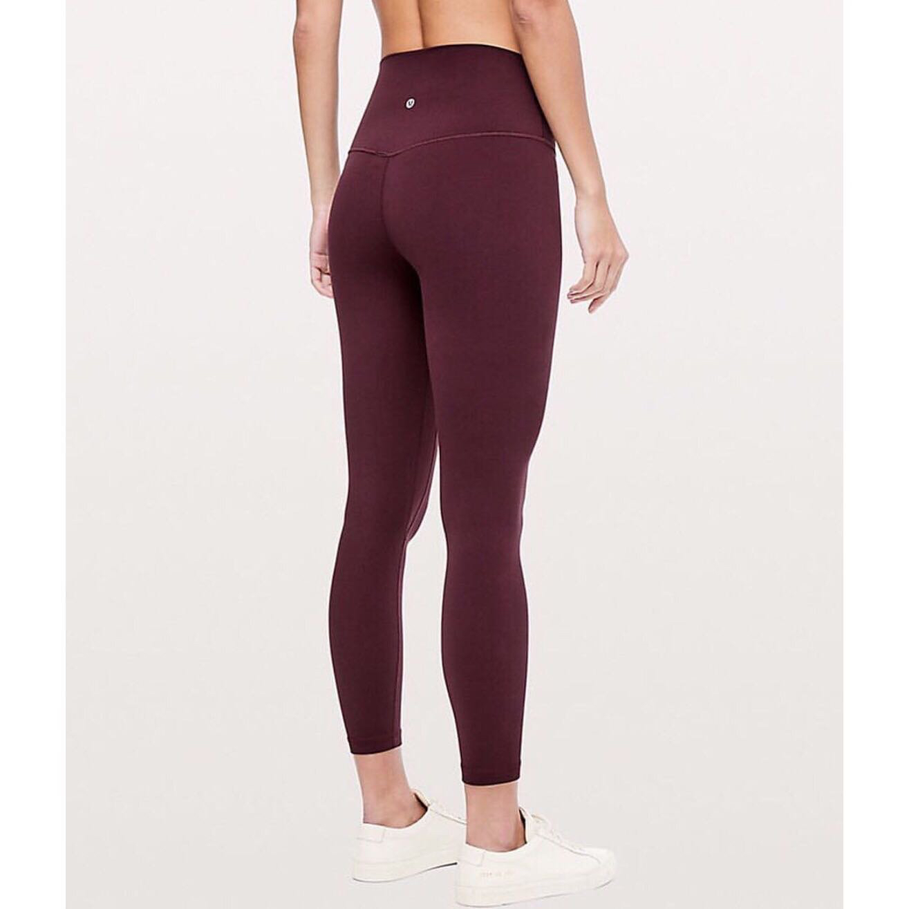 4bcdee9b64a7fd NEW Lululemon Workout Leggings in Maroon, Sports, Athletic & Sports  Clothing on Carousell