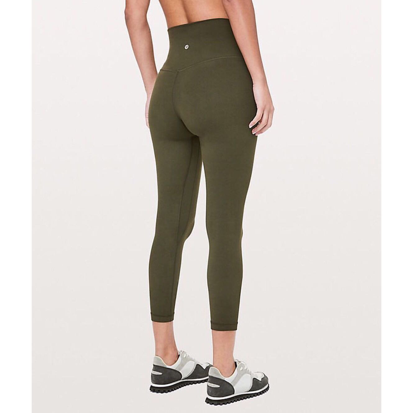 newest e0591 93fb4 NEW Lululemon Workout Leggings in Olive Green, Sports, Athletic   Sports  Clothing on Carousell