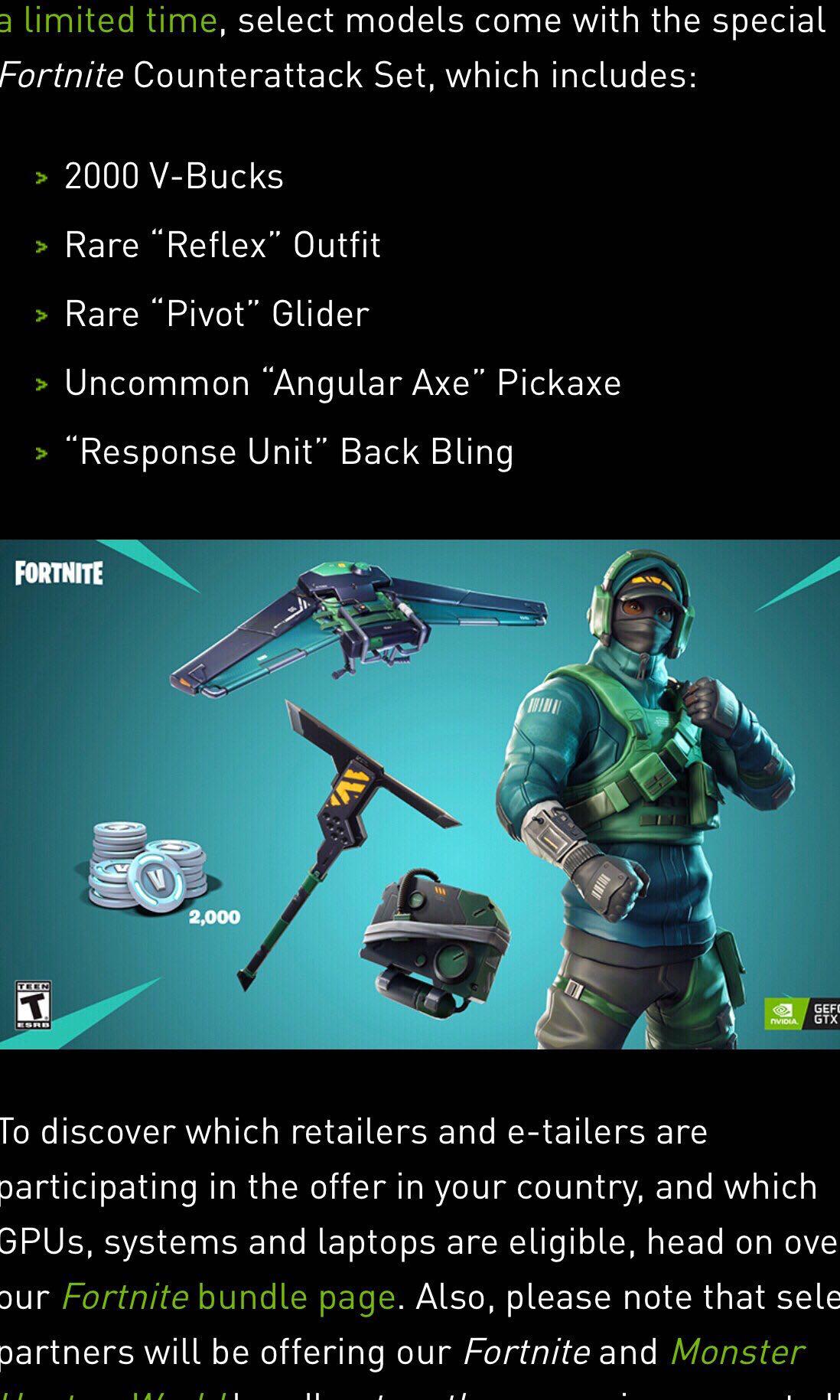 Nvidia Geforce Fortnite Counterattack Set Game Code Fast