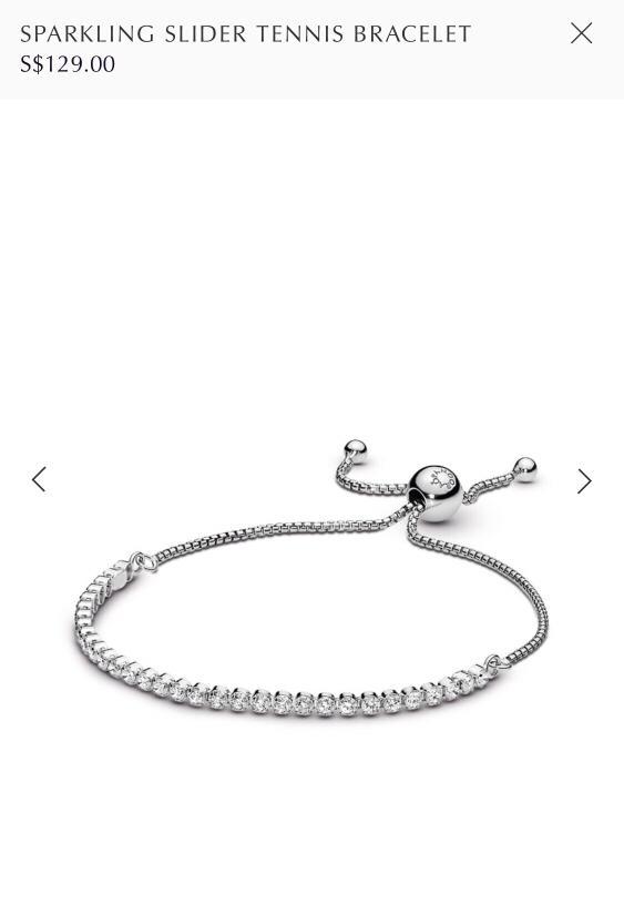Pandora Sparkling Slider Tennis Bracelet Women S Fashion Jewelry Organisers Bracelets On Carousell