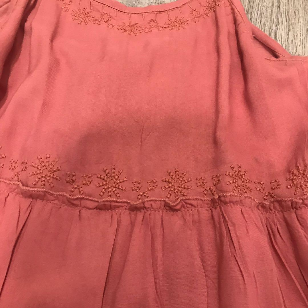 Pinky rust beach dress
