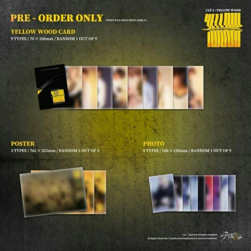 PO ALBUM STRAY KIDS - CLE 2 : YELLOW WOOD (NORMAL VER)