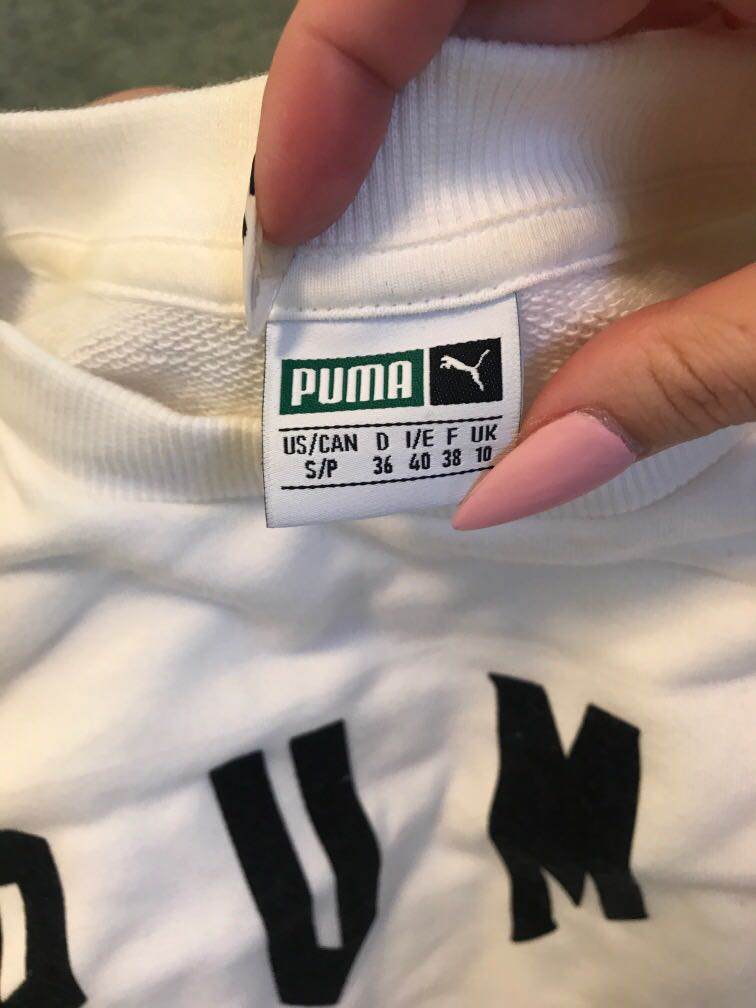 Puma rose crop jumper