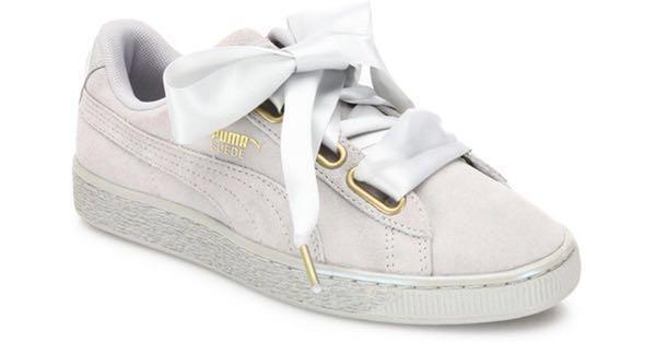 wholesale dealer 87966 25967 Puma Suede Basket Heart Grey, Women's Fashion, Shoes ...