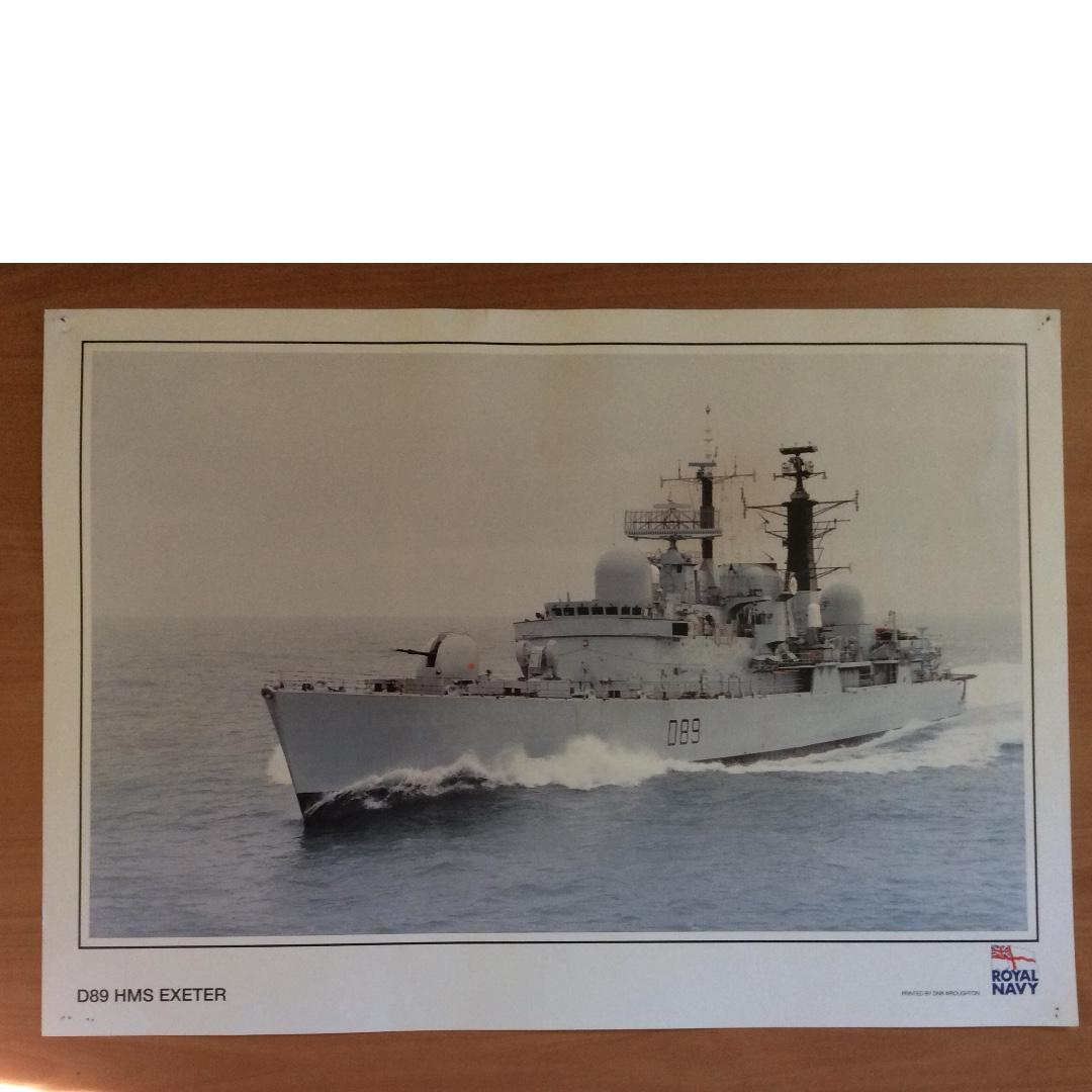 Royal Navy ships posters ( HMS Exeter, HMS Boxer)