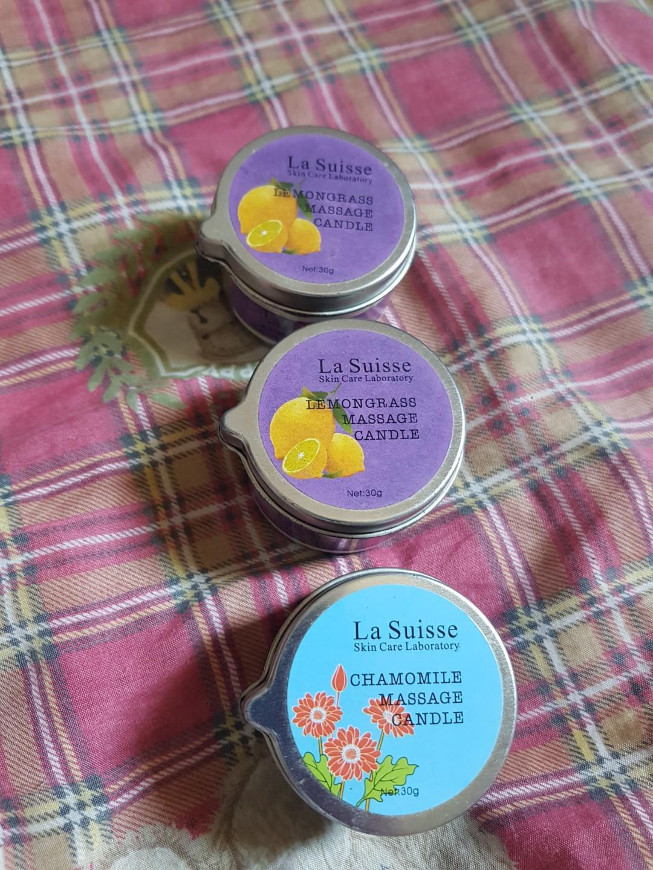 Take all La Suisse Massage Candles