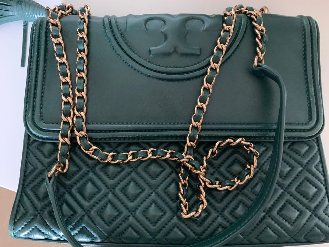 Tory Burch green medium