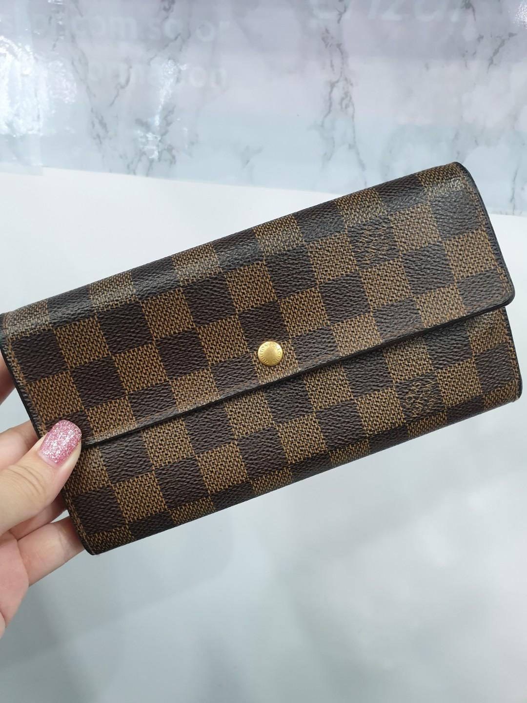 729c7029244 Used Louis Vuitton LV Women's Long Damier Brown Wallet, Luxury, Bags ...