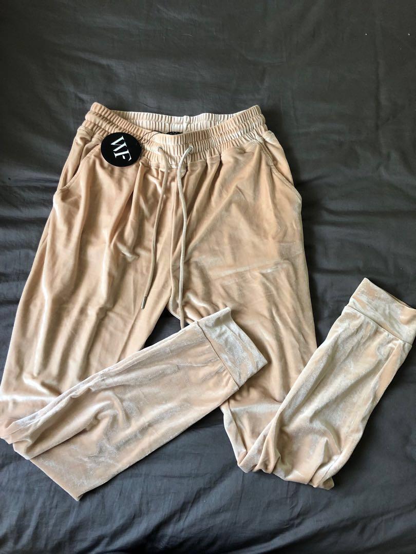 White Fox Boutique - Westwood Velvet Sand New Loungewear Set