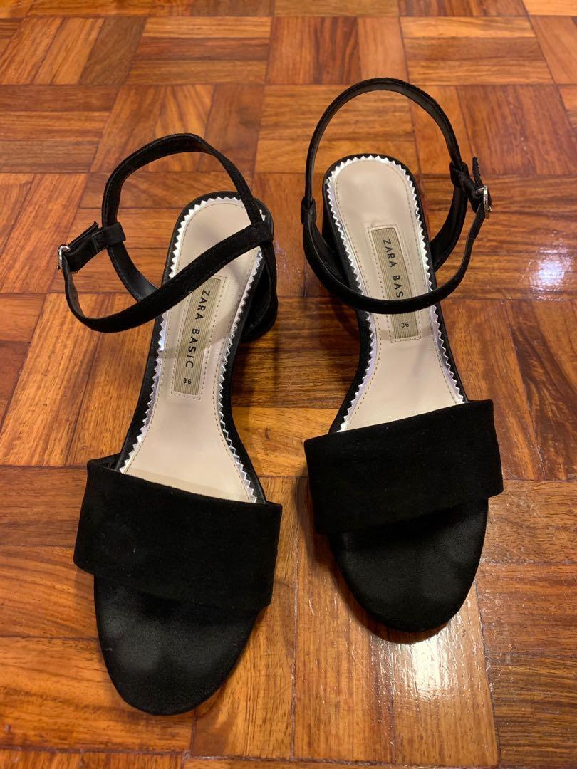 Sandals Black Carousell Jc5a3rl4q Basic Heel On Mid Zara MpVULqSzG
