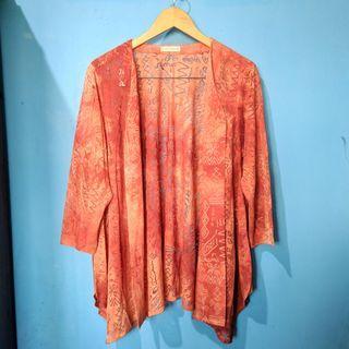 Orange pattern cardigan HARGA PAS NETT FREEONGKIR WAHANA JABODETABEK