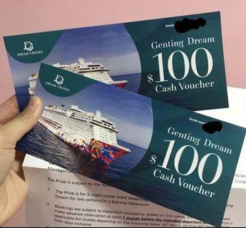 $50 for $200 genting cruise voucher(dream cruise)