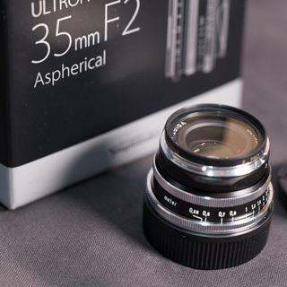 Voigtlander 35mm f2 VM ASPH ULTRON Vintage Line Silver