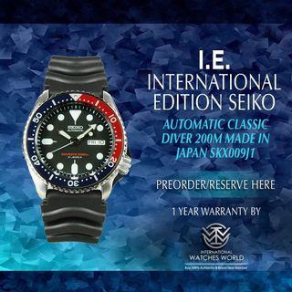 SEIKO INTERNATIONAL EDITION AUTOMATIC CLASSIC DIVER 200M MADE IN JAPAN SKX009J1