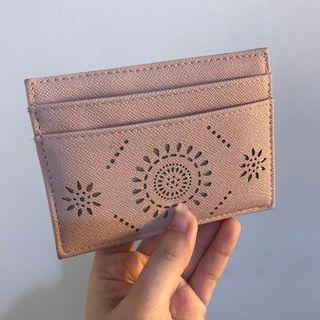 Wallet card holder pink dusty