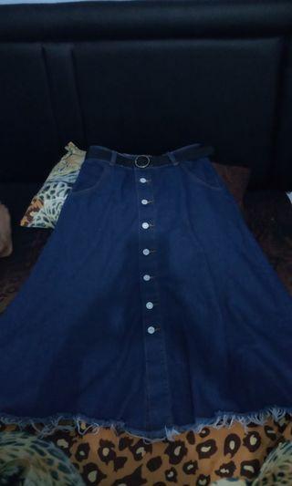 Rok skirt button