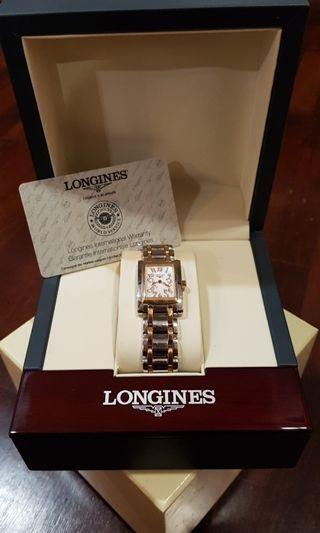 Longines Dolcevita Mother Of Pearl 18k Rose Gold Quartz Lady Watch