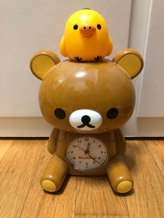 SAN-X Rilakkuma and Kitori Clock
