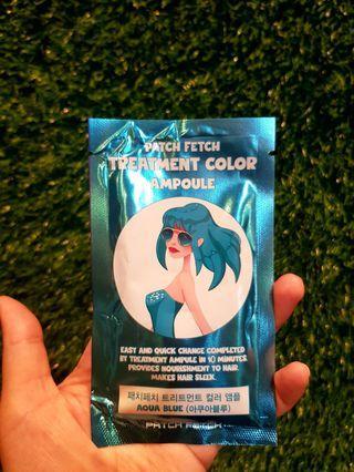 Hair Colour Dye Treatment Ampoule - Aqua Blue