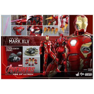 Hottoys Hot Toys Ironman Mark XLV 45 Age of Ultron 鐵甲奇俠 鋼鐵俠 Diecast mms300 MMS 300 D11 啡盒未開