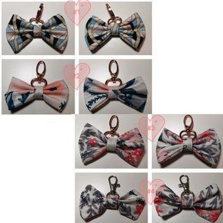 Bn jujube bow keychains