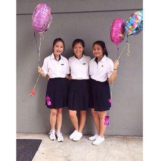 🚚 acjc (anglo-chinese junior college) girls uniform