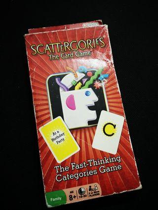 SCATTERGORIES The Card Game