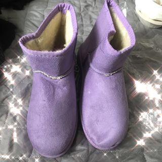 全新現貨💫36碼紫色雪靴