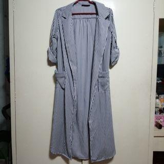Faux Wrap Around Long Dress