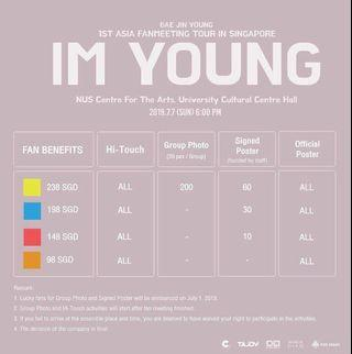 (WTB) bae jinyoung sg fanmeet ticket