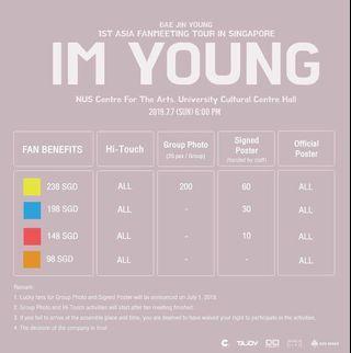 LF/WTB bae jinyoung fanmeet cat3 ticket