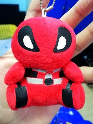 (Brand New!!) Deadpool Plush Keychain Figurine