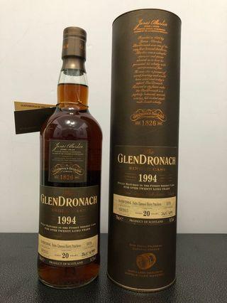 Glendronach single cask 1994 20yo