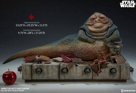 全新 Sideshow Jabba the Hutt not hottoys