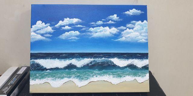 Hand Acrylic Painting by SheesArt
