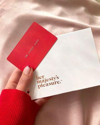 Her Majesty's Pleasure gift card for 1 blowout