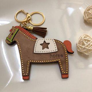 🚚 【全新】小馬 吊飾/鑰匙圈 橘色