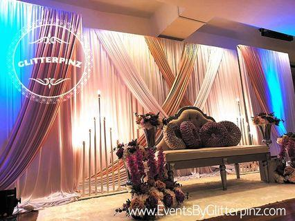 Pelamin / wedding dais deco / package