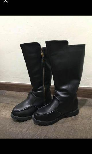 2 pair of BNIB Girl black boots for sale.