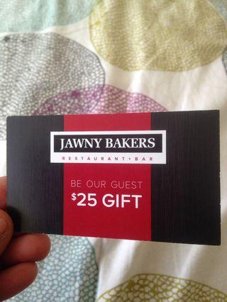 $25 Jawny Bakers voucher