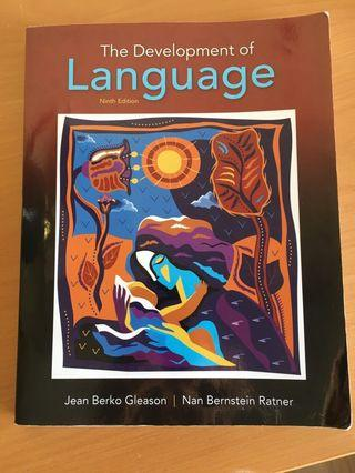 Textbook for JLP315 - The Development of Language 9th edition