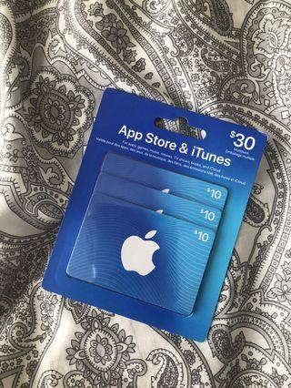 Brand New $30 ITunes Gift Card