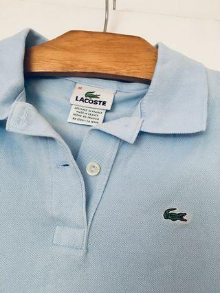 Authentic LACOSTE baby blue polo 36 (XS)